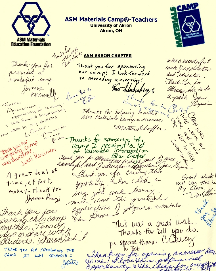2009 Thank You Note